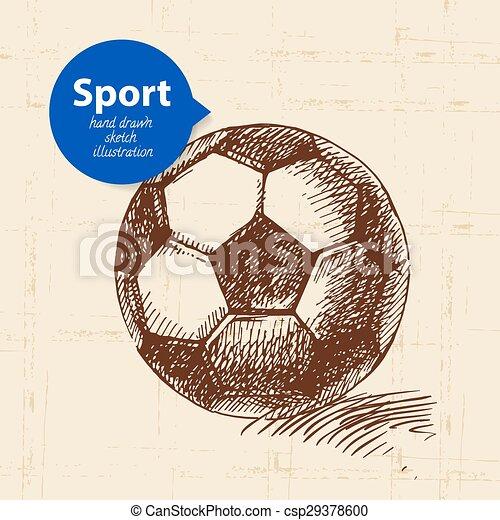 Skizze Fussball Abbildung Hand Vektor Object