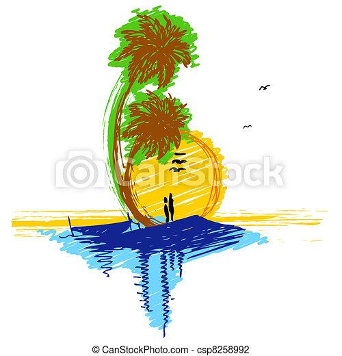 Paare In Der Liebe Am Strand Auf Hängematte. Inspiration Für Die Hochzeit,  Datum, Romantische Reise-Karte. Familie Lizenzfrei Nutzbare Vektorgrafiken, Clip  Arts, Illustrationen. Image 60981475.