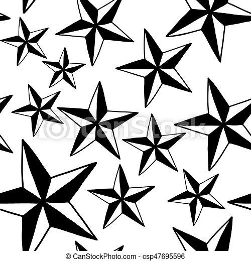 skizze stern muster freigestellt abbildung seamless linien - Stern Muster