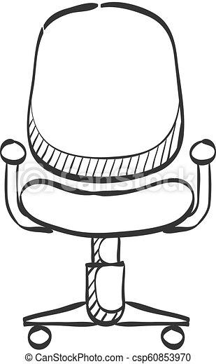 Bürostuhl skizze  skizze, -, stuhl, buero, ikone