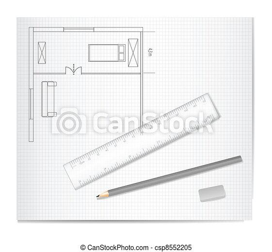 Skizze Zeichnung Architektur