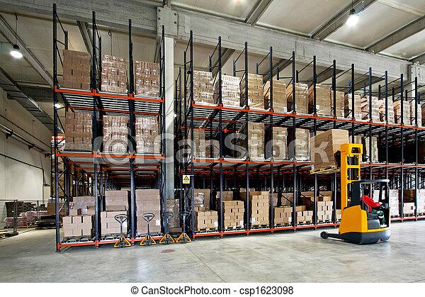 skladiště, forklifter - csp1623098