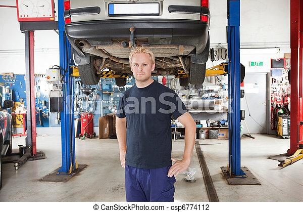 sklep, robotnik automobilu, naprawa - csp6774112