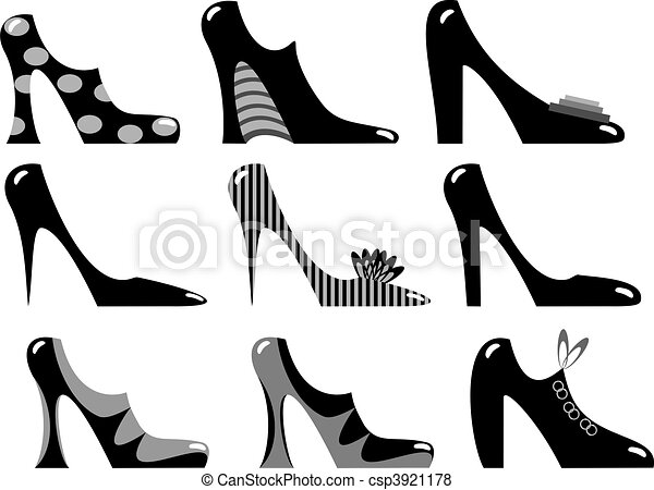 skodon, fashionabel, kvinnor - csp3921178