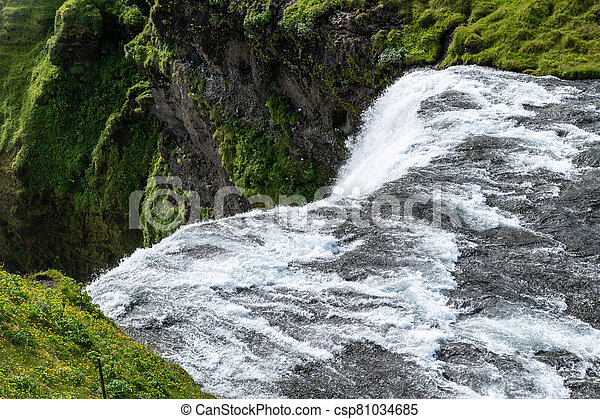Skogafoss waterfall in the southern part Iceland - csp81034685