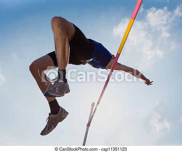 skok, ślad, wysoki, pole - csp11351123