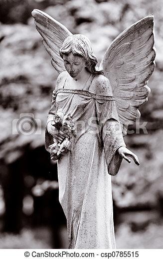skrzydlaty, anioł - csp0785515