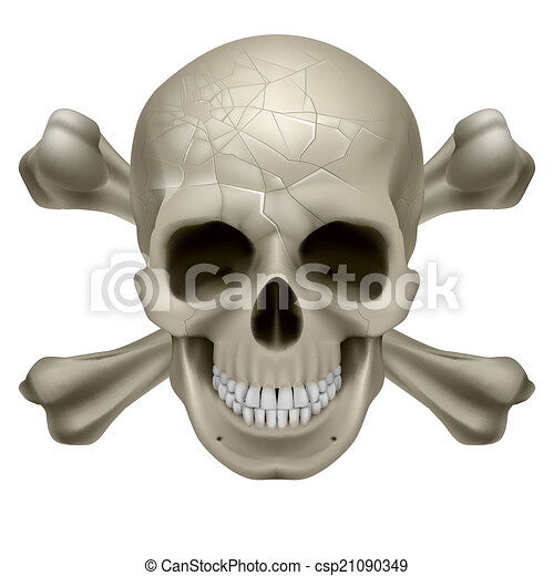 Skull and Crosbones - csp21090349