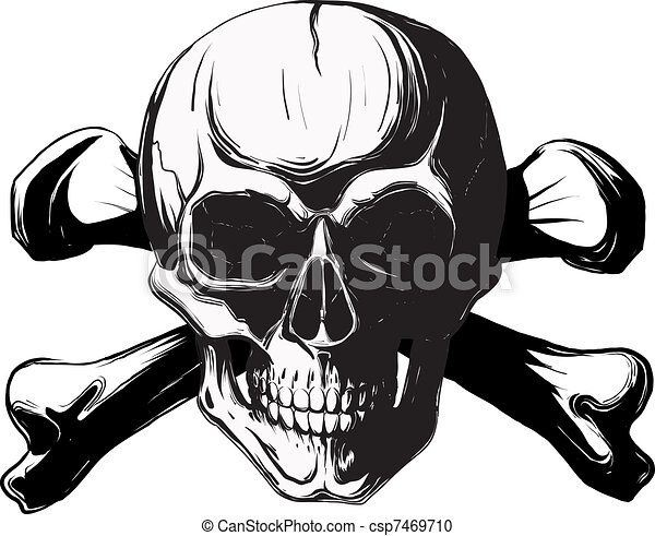 skull and cross bones - csp7469710