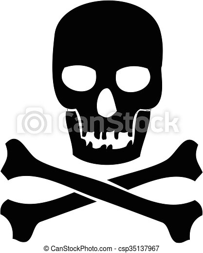 Skull and crossbones - csp35137967