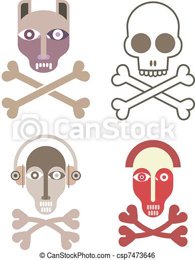 Skull and crossbones - csp7473646