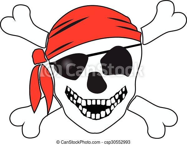 Skull and crossbones - csp30552993