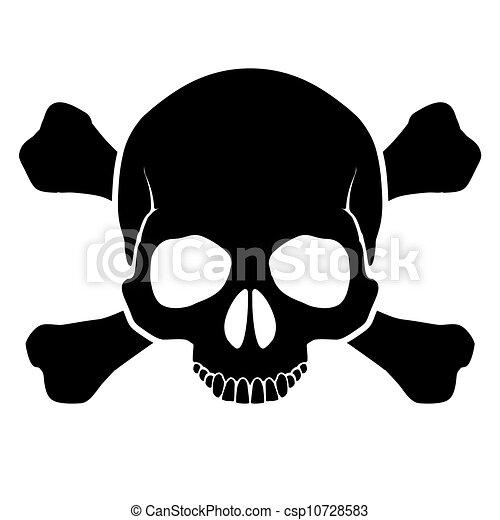 Skull and crossbones. - csp10728583