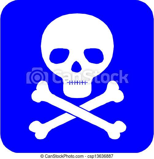 Skull and crossbones - csp13636887