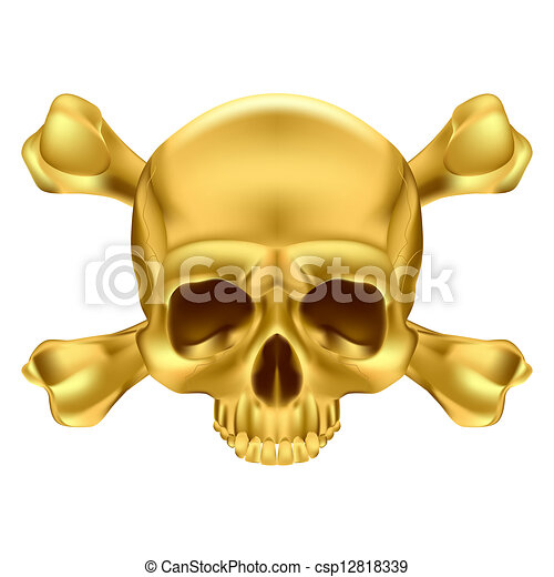 Skull and crossbones - csp12818339