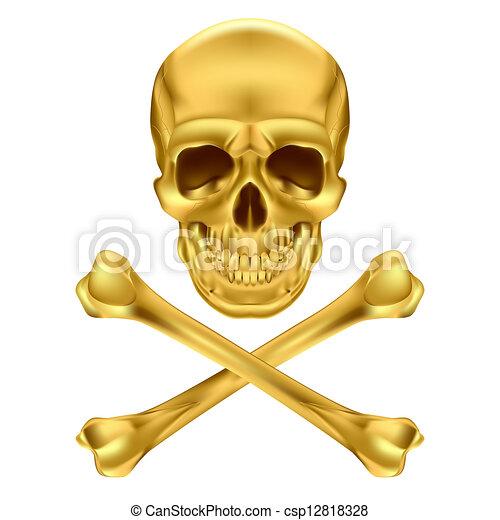 Skull and crossbones - csp12818328