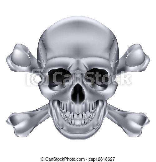 Skull and crossbones - csp12818627