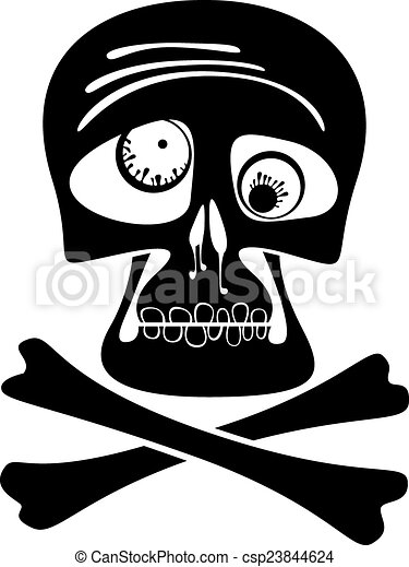 Skull and crossbones. - csp23844624