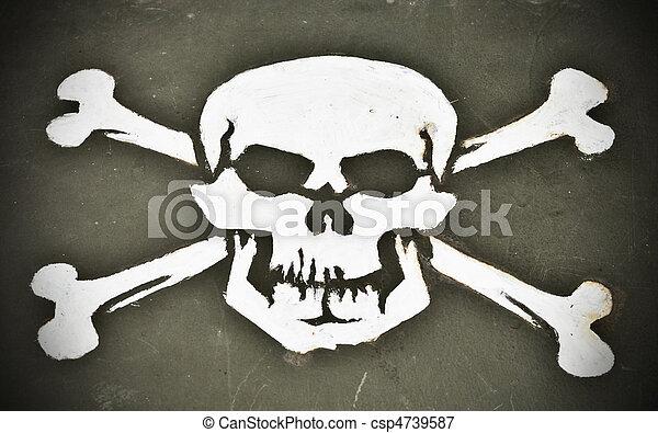 Skull and Crossbones - csp4739587