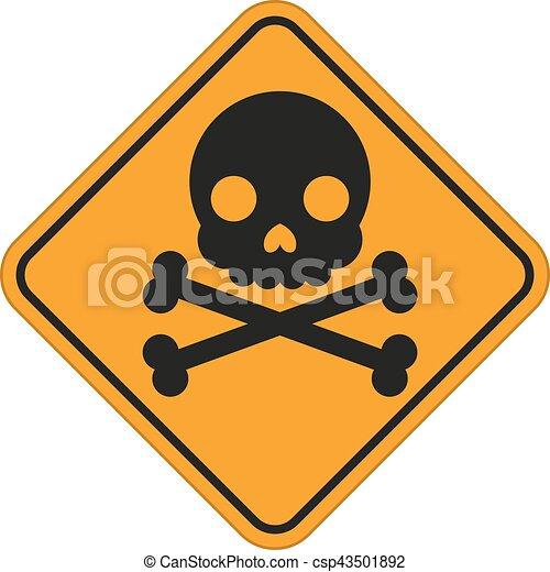 Skull And Crossbones Symbol Danger Sign Vector Illustration For
