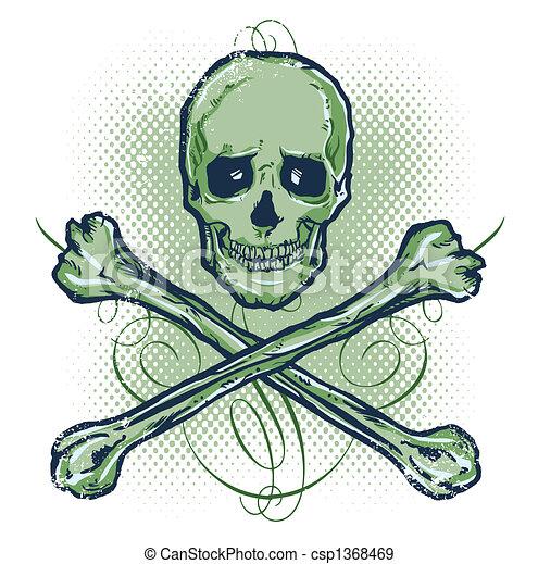 Skull and Crossbones Vect - csp1368469