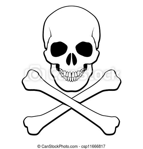 skull and crossbones illustration on white background for vector rh canstockphoto com cute skull and crossbones vector skull and crossbones vector free