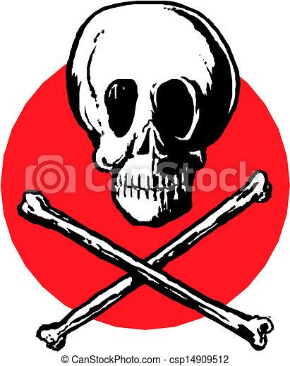 Skull and crossbones  - csp14909512