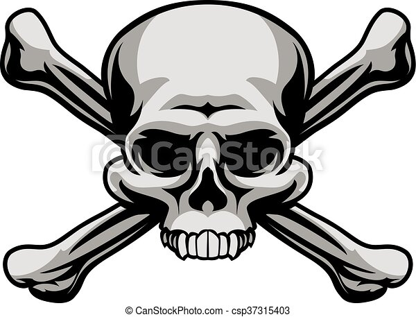 skull and crossbones a skull and crossbones illustration like a rh canstockphoto com  jolly roger clipart
