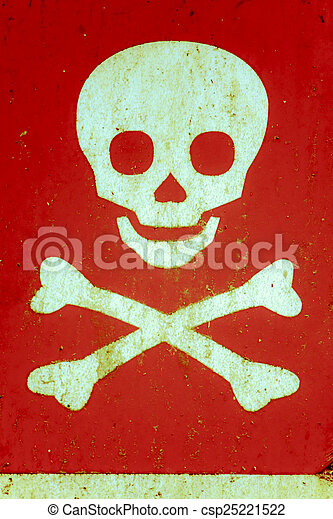 Skull and Crossbones, Warning Symbol - csp25221522