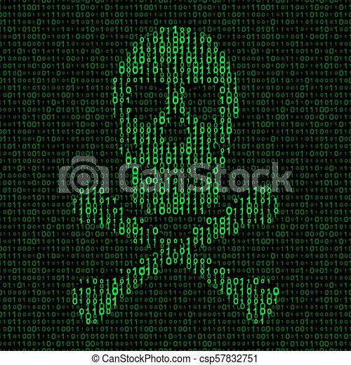 skull and crossbones with binary code  virus concept