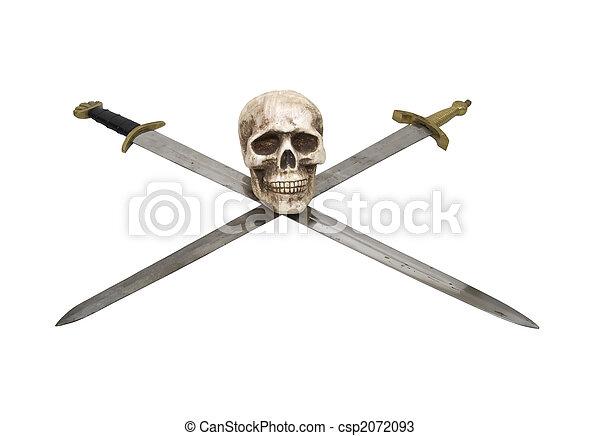 Skull and crossed swords - csp2072093