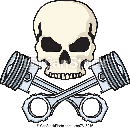 Skull and Pistons - csp7615216