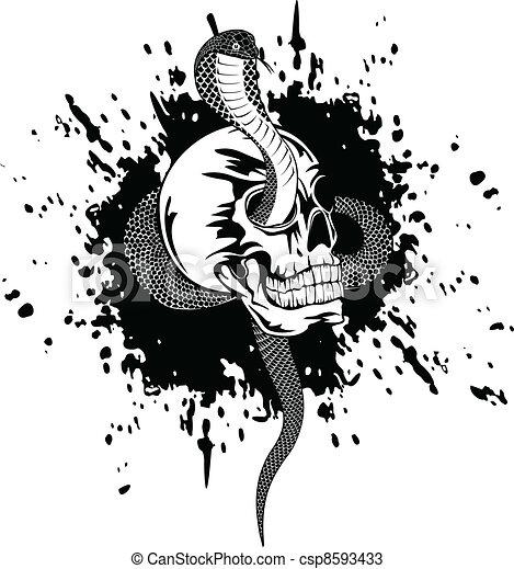 skull and snake - csp8593433