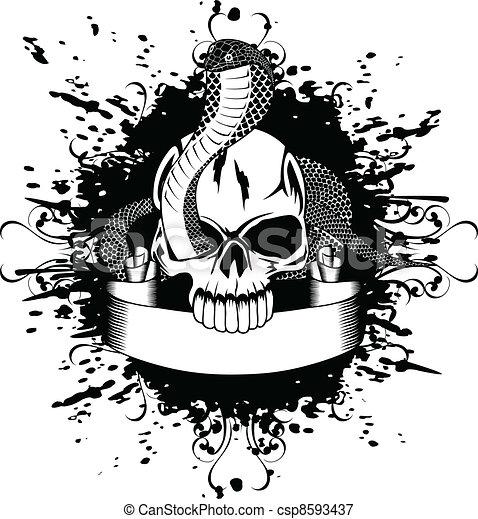 skull and snake - csp8593437