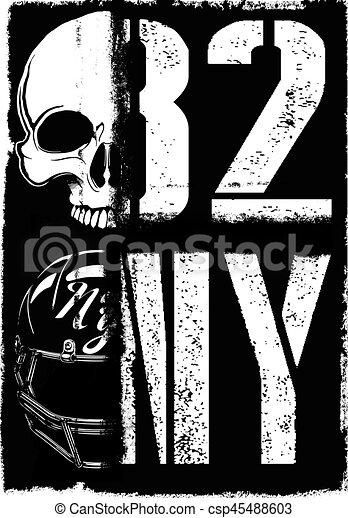 2f3c90d68 Skull athletic college t shirt design.