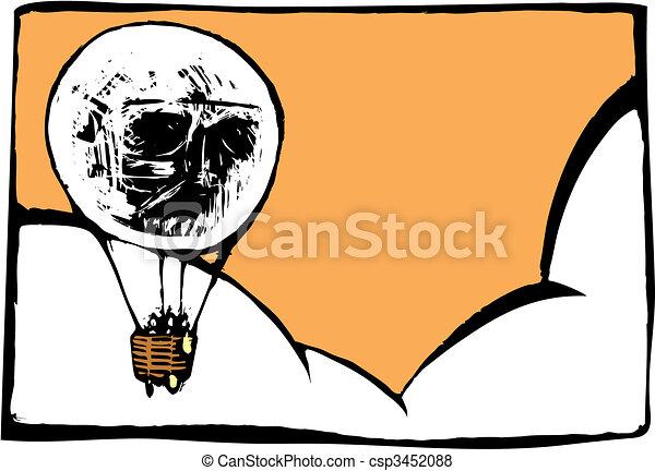 Skull Balloon - csp3452088
