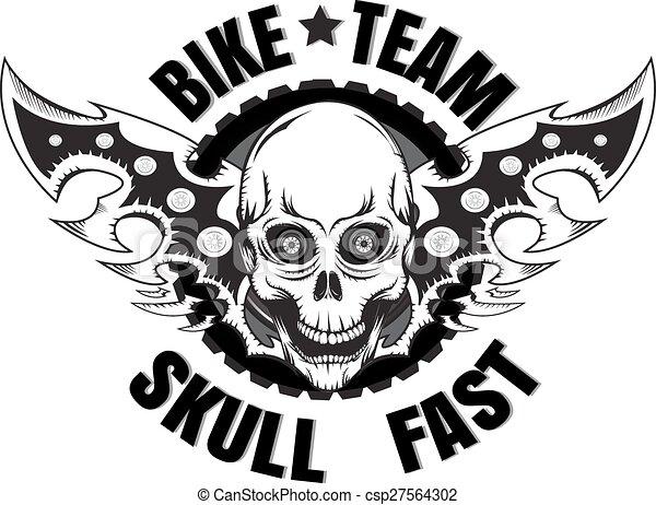 Skull bike logos - csp27564302