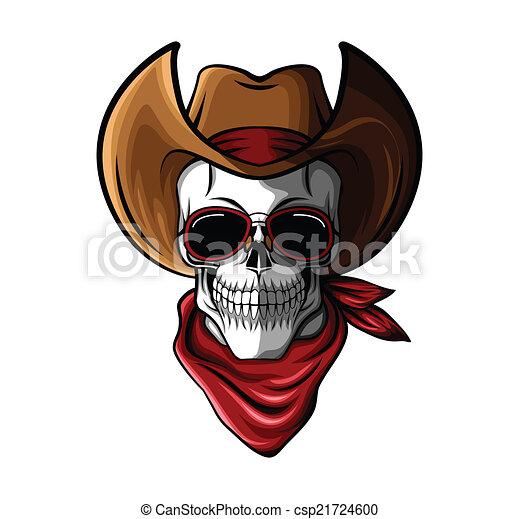 Skull Cowboy - csp21724600