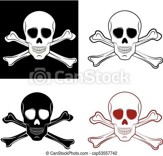 skull - csp53557742