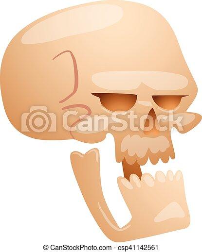 Skull face illustration isolated on white background. - csp41142561