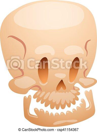 Skull face illustration isolated on white background. - csp41154367