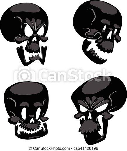 Skull face illustration isolated on white background. - csp41428196