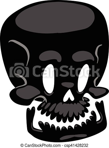Skull face illustration isolated on white background. - csp41428232