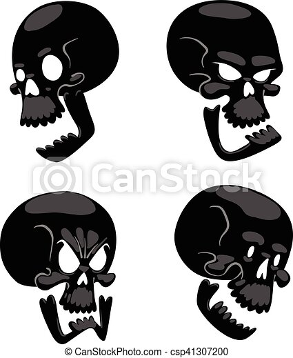 Skull face illustration isolated on white background. - csp41307200