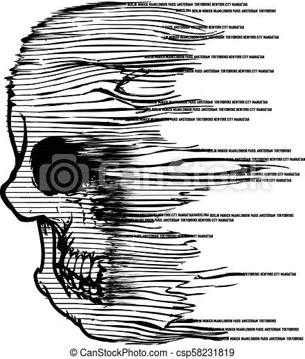 Skull Fashion Tee Graphic Design - csp58231819
