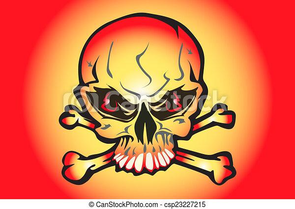 skull hard rock - csp23227215
