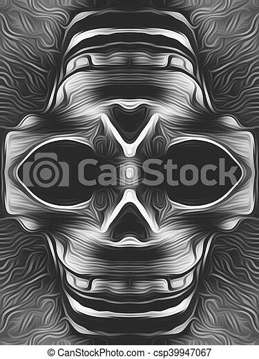 skull in black and white - csp39947067