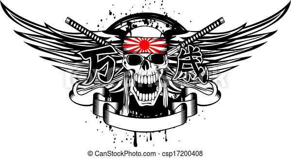 skull kamikaze banzai - csp17200408
