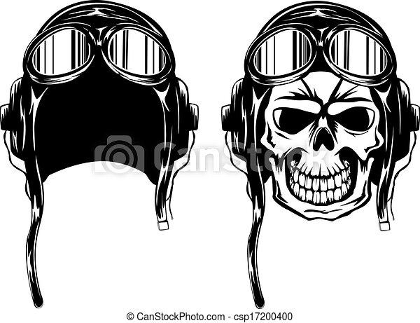 skull kamikaze in helmet - csp17200400