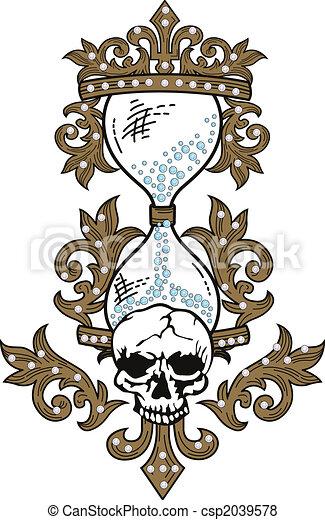 Skull rock grunge texture - csp2039578